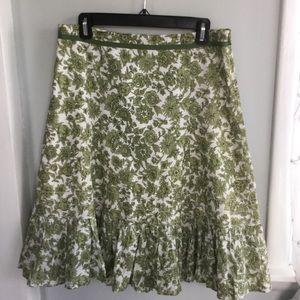 Ann Taylor Green Skirt Size 8